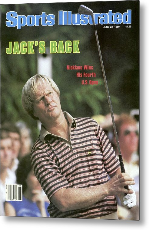 1980-1989 Metal Print featuring the photograph Jack Nicklaus, 1980 Us Open Sports Illustrated Cover by Sports Illustrated