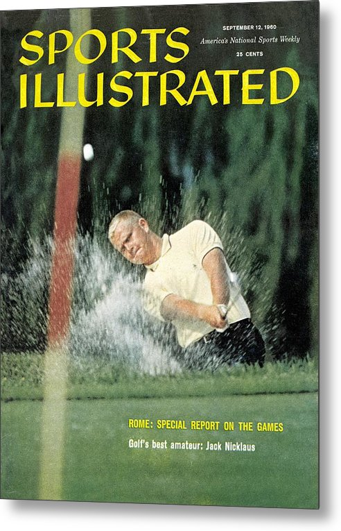 Magazine Cover Metal Print featuring the photograph Jack Nicklaus, Amateur Golf Sports Illustrated Cover by Sports Illustrated