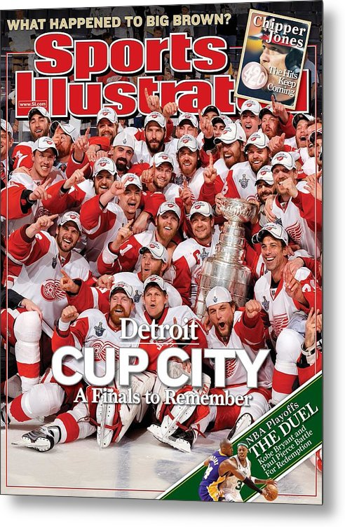Magazine Cover Metal Print featuring the photograph June 16, 2008 Sports Illustrated... Sports Illustrated Cover by Sports Illustrated