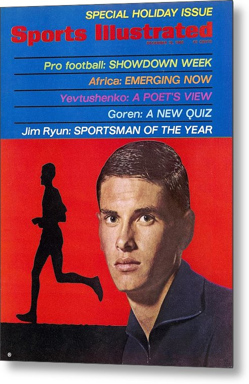 Magazine Cover Metal Print featuring the photograph Kansas Jim Ryun, 1966 Sportsman Of The Year Sports Illustrated Cover by Sports Illustrated