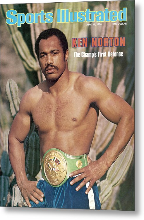 Magazine Cover Metal Print featuring the photograph Ken Norton Sr, Heavyweight Boxing Sports Illustrated Cover by Sports Illustrated