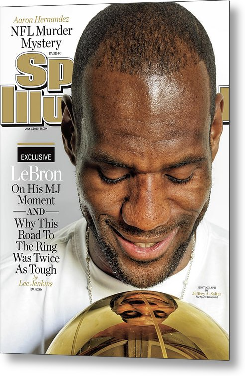 Magazine Cover Metal Print featuring the photograph LeBron Exclusive Sports Illustrated Cover by Sports Illustrated