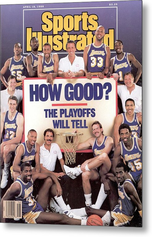 Magazine Cover Metal Print featuring the photograph Los Angeles Lakers Sports Illustrated Cover by Sports Illustrated