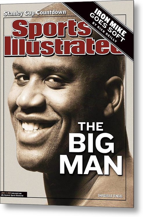 Magazine Cover Metal Print featuring the photograph Los Angeles Lakers Shaquille Oneal Sports Illustrated Cover by Sports Illustrated