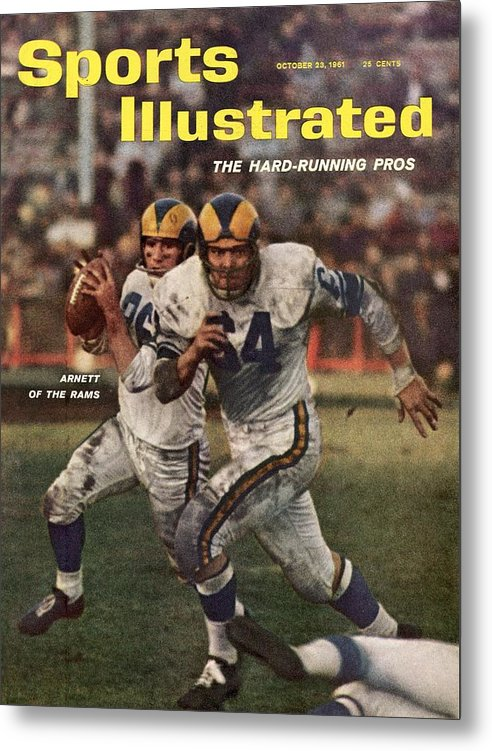 Magazine Cover Metal Print featuring the photograph Los Angeles Rams Jon Arnett And Roy Hord Sports Illustrated Cover by Sports Illustrated