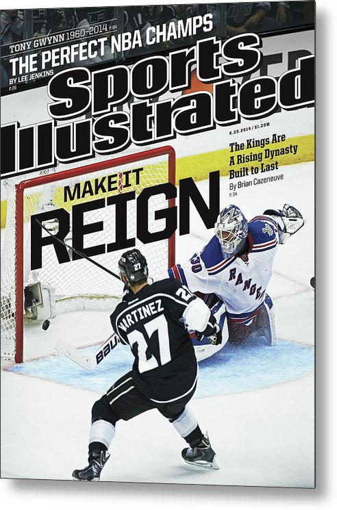 Magazine Cover Metal Print featuring the photograph Make It Reign The Kings Are A Rising Dynasty Built To Last Sports Illustrated Cover by Sports Illustrated
