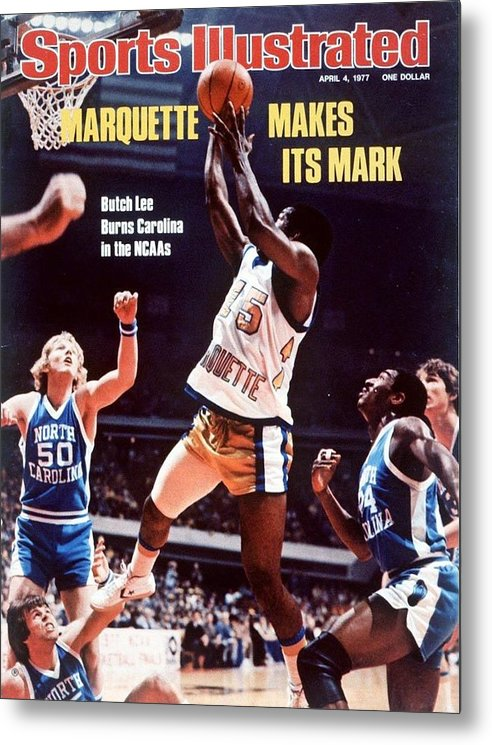 Atlanta Metal Print featuring the photograph Marquette Butch Lee, 1977 Ncaa National Championship Sports Illustrated Cover by Sports Illustrated