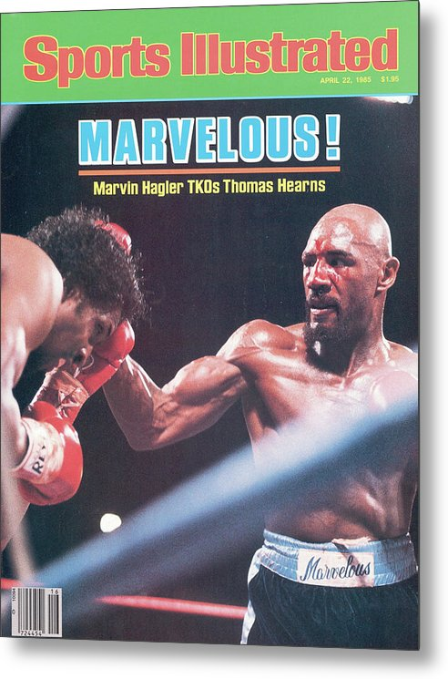 1980-1989 Metal Print featuring the photograph Marvelous Marvin Hagler, 1985 Wbc Wba Ibf Middleweight Title Sports Illustrated Cover by Sports Illustrated
