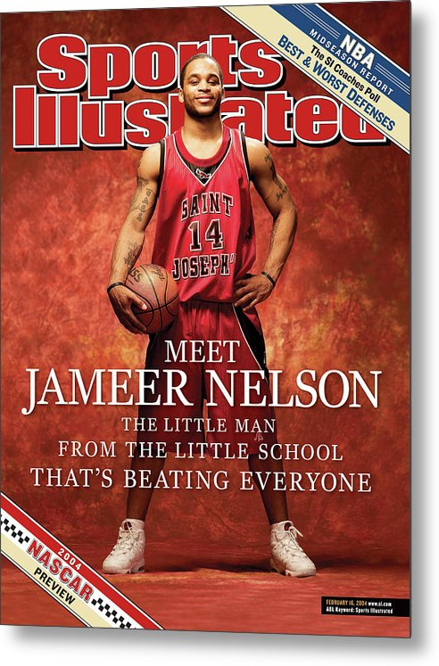 Point Guard Metal Print featuring the photograph Meet Jameer Nelson The Little Man From The Little School Sports Illustrated Cover by Sports Illustrated