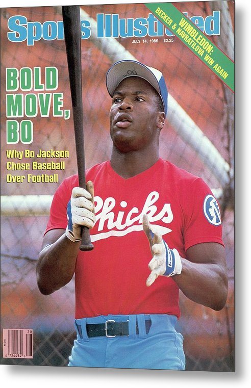 1980-1989 Metal Print featuring the photograph Memphis Chicks Bo Jackson, Class Aa Southern League Sports Illustrated Cover by Sports Illustrated