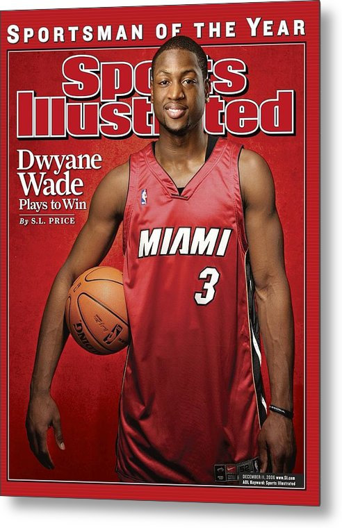 Nba Pro Basketball Metal Print featuring the photograph Miami Heat Dwyane Wade Sports Illustrated Cover by Sports Illustrated