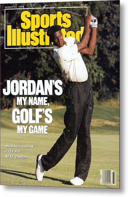 1980-1989 Metal Print featuring the photograph Michael Jordan, 1989 St. Jude Classic Sports Illustrated Cover by Sports Illustrated