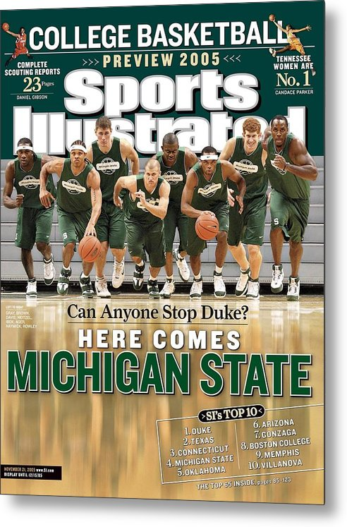Michigan State University Metal Print featuring the photograph Michigan State University Basketball Team Sports Illustrated Cover by Sports Illustrated