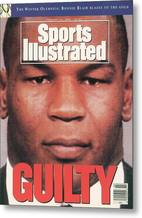 Magazine Cover Metal Print featuring the photograph Mike Tyson, Heavyweight Boxing Sports Illustrated Cover by Sports Illustrated
