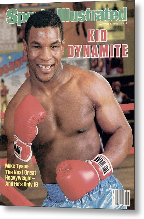 1980-1989 Metal Print featuring the photograph Mike Tyson, Heavyweight Boxing Sports Illustrated Cover by Sports Illustrated