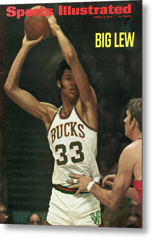 Nba Pro Basketball Metal Print featuring the photograph Milwaukee Bucks Lew Alcindor... Sports Illustrated Cover by Sports Illustrated