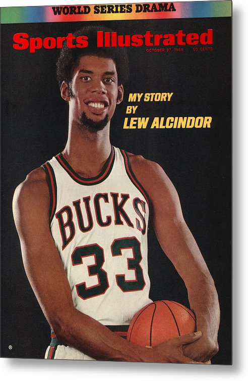 Nba Pro Basketball Metal Print featuring the photograph Milwaukee Bucks Lew Alcindor Sports Illustrated Cover by Sports Illustrated