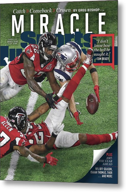 Magazine Cover Metal Print featuring the photograph Miracle Catch, Comeback, Crown Sports Illustrated Cover by Sports Illustrated