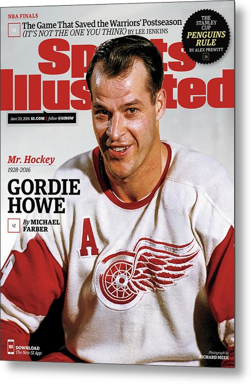 Magazine Cover Metal Print featuring the photograph Mr. Hockey Gordie Howe, 1928 - 2016 Sports Illustrated Cover by Sports Illustrated