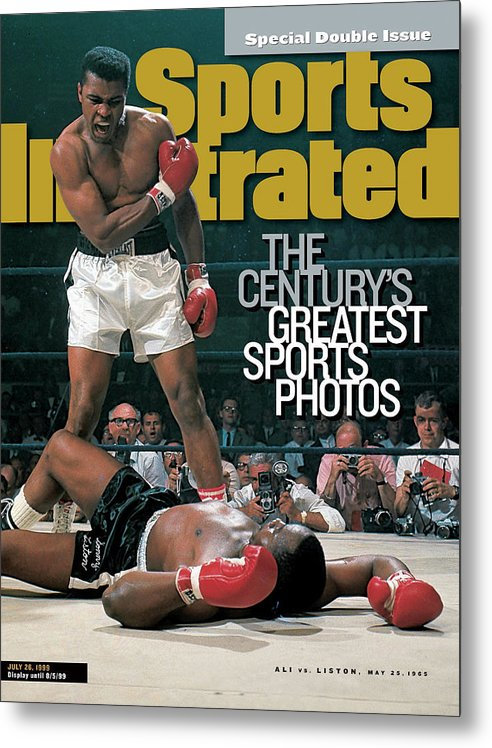 Magazine Cover Metal Print featuring the photograph Muhammad Ali, 1965 World Heavyweight Title Sports Illustrated Cover by Sports Illustrated