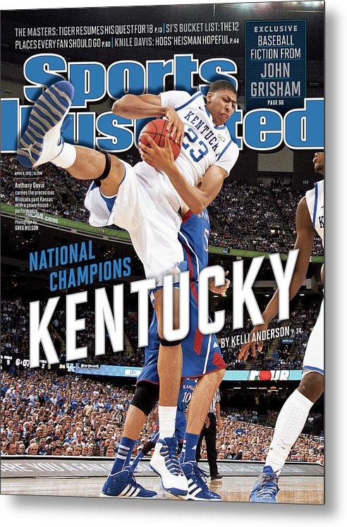 Magazine Cover Metal Print featuring the photograph Ncaa Basketball Tournament - Final Four - Championship Sports Illustrated Cover by Sports Illustrated