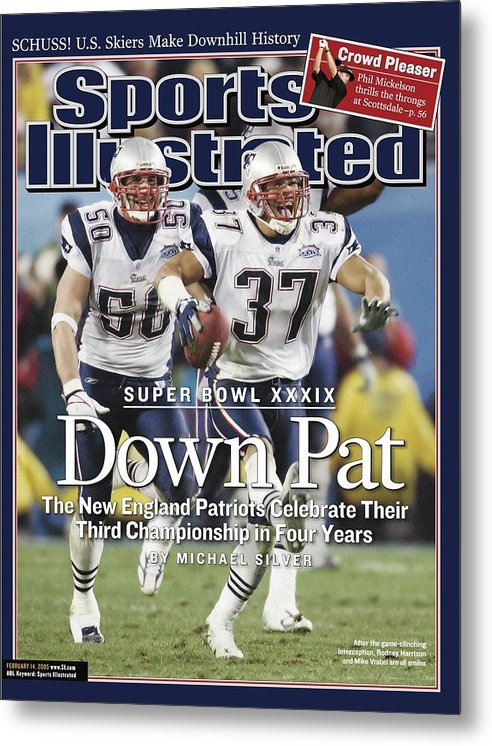 New England Patriots Metal Print featuring the photograph New England Patriots Rodney Harrison And Mike Vrabel, Super Sports Illustrated Cover by Sports Illustrated