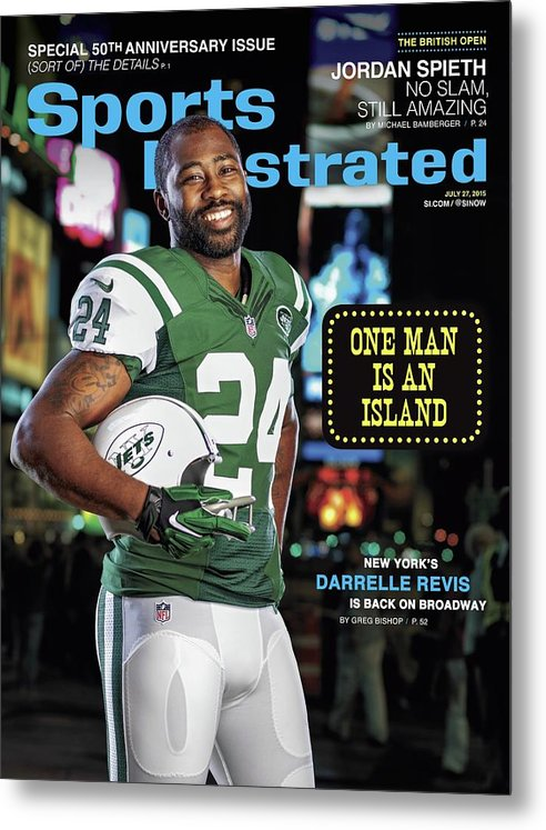 Magazine Cover Metal Print featuring the photograph New York Jets Darrelle Revis Sports Illustrated Cover by Sports Illustrated
