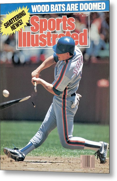 Candlestick Park Metal Print featuring the photograph New York Mets Gregg Jeffries... Sports Illustrated Cover by Sports Illustrated