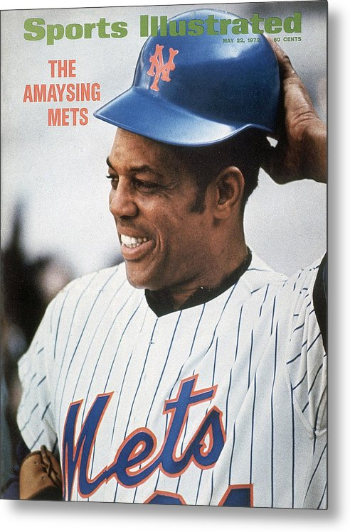Sports Illustrated Metal Print featuring the photograph New York Mets Willie Mays Sports Illustrated Cover by Sports Illustrated