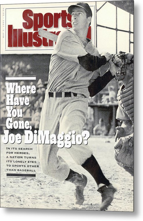 St. Louis Cardinals Metal Print featuring the photograph New York Yankees Joe Dimaggio... Sports Illustrated Cover by Sports Illustrated