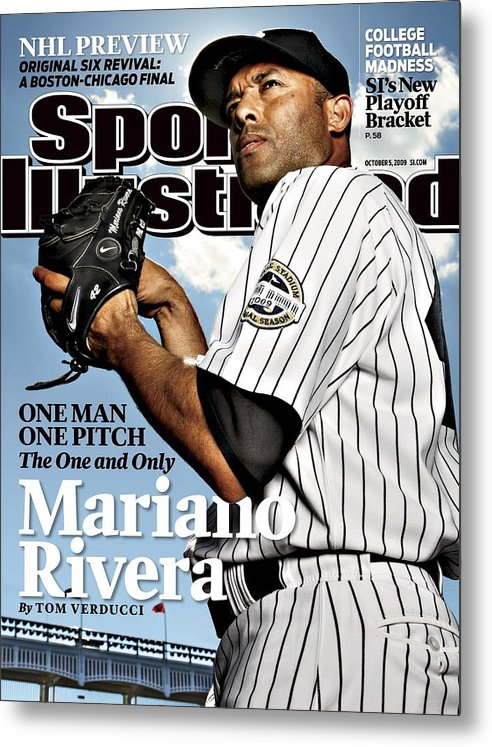 Magazine Cover Metal Print featuring the photograph New York Yankees Mariano Rivera Sports Illustrated Cover by Sports Illustrated