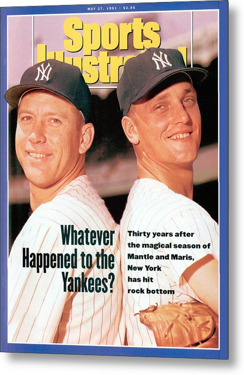 Magazine Cover Metal Print featuring the photograph New York Yankees Mickey Mantle And Roger Maris Sports Illustrated Cover by Sports Illustrated