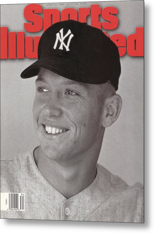 Magazine Cover Metal Print featuring the photograph New York Yankees Mickey Mantle Sports Illustrated Cover by Sports Illustrated