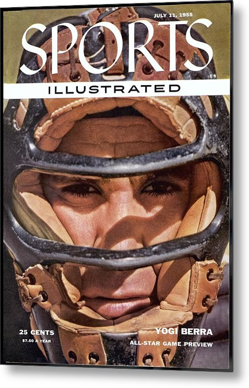 Magazine Cover Metal Print featuring the photograph New York Yankees Yogi Berra Sports Illustrated Cover by Sports Illustrated