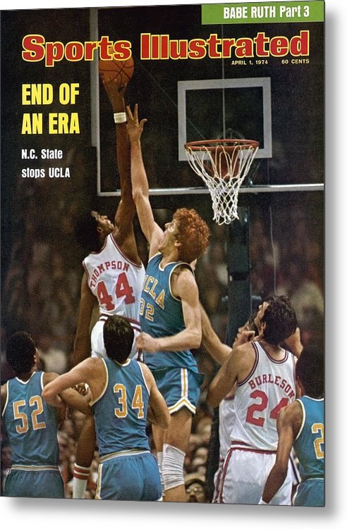 David Thompson Metal Print featuring the photograph North Carolina State David Thompson, 1974 Ncaa Semifinals Sports Illustrated Cover by Sports Illustrated