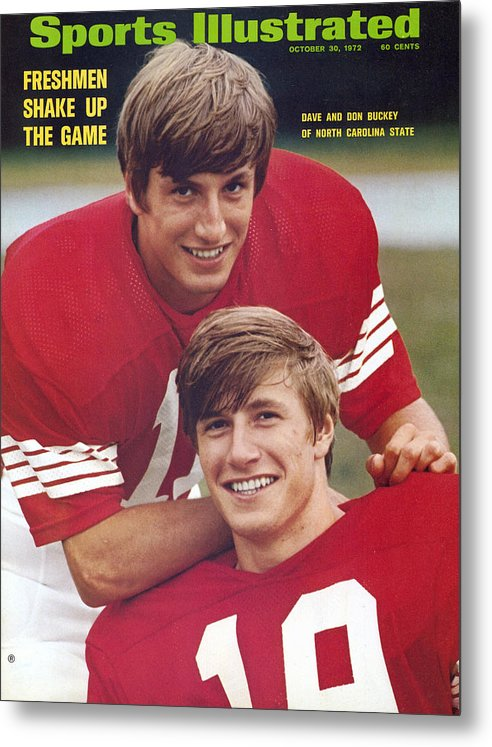 Magazine Cover Metal Print featuring the photograph North Carolina State University Don And Dave Buckey Sports Illustrated Cover by Sports Illustrated