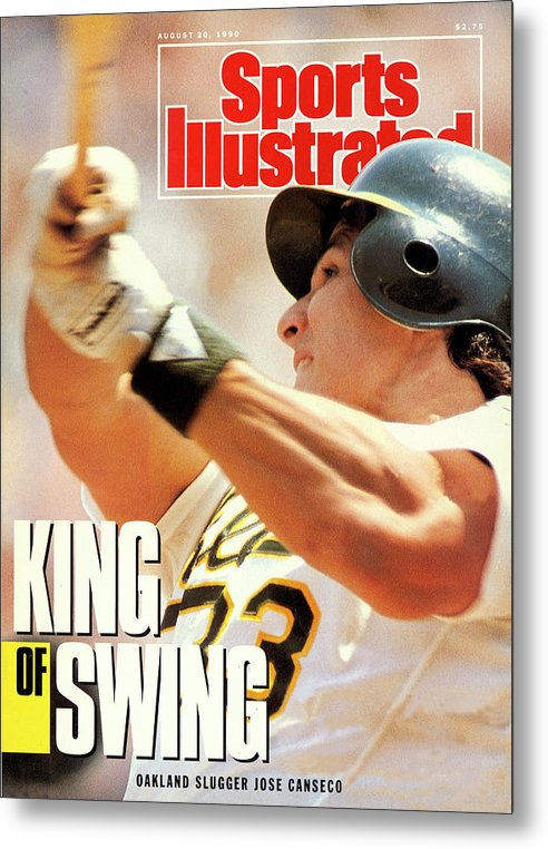 Magazine Cover Metal Print featuring the photograph Oakland Athletics Jose Canseco Sports Illustrated Cover by Sports Illustrated