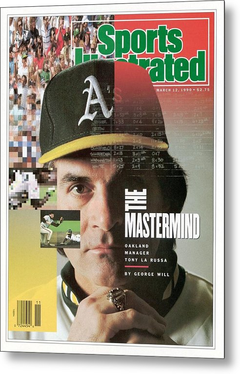 American League Baseball Metal Print featuring the photograph Oakland Athletics Manager Tony La Russa Sports Illustrated Cover by Sports Illustrated