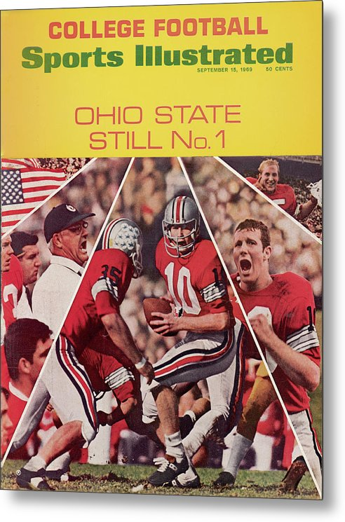 Michigan State University Metal Print featuring the photograph Ohio State Still No. 1 Sports Illustrated Cover by Sports Illustrated