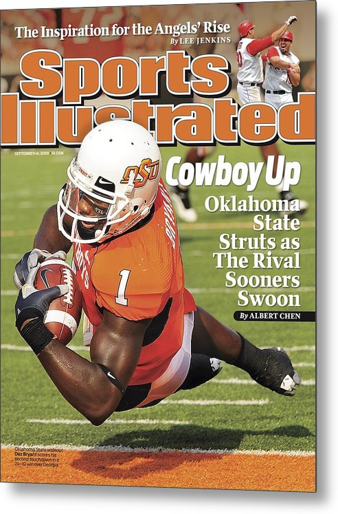 Magazine Cover Metal Print featuring the photograph Oklahoma State University Dez Bryant Sports Illustrated Cover by Sports Illustrated