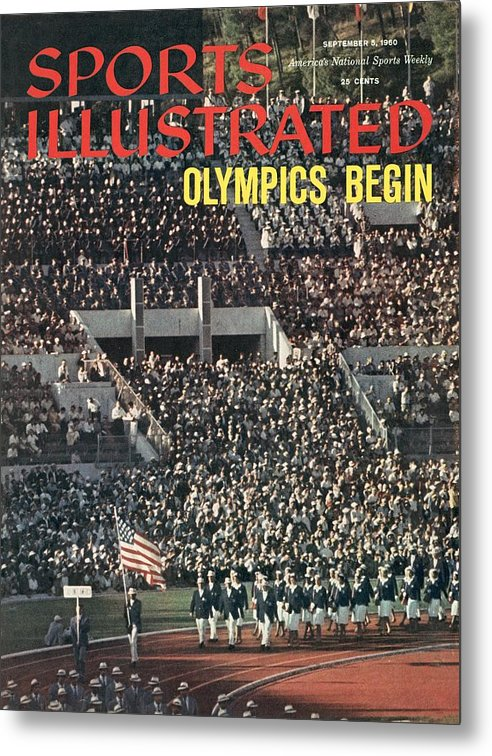 Magazine Cover Metal Print featuring the photograph Opening Ceremony, 1960 Summer Olympics Sports Illustrated Cover by Sports Illustrated