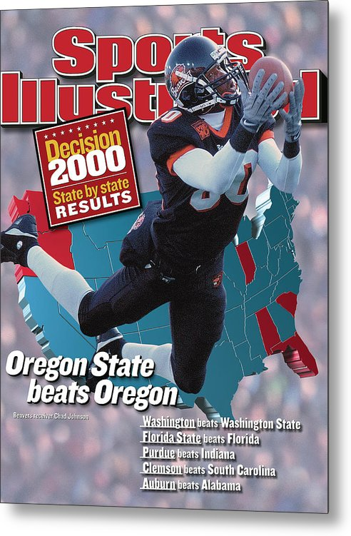 Magazine Cover Metal Print featuring the photograph Oregon State University Chad Johnson Sports Illustrated Cover by Sports Illustrated