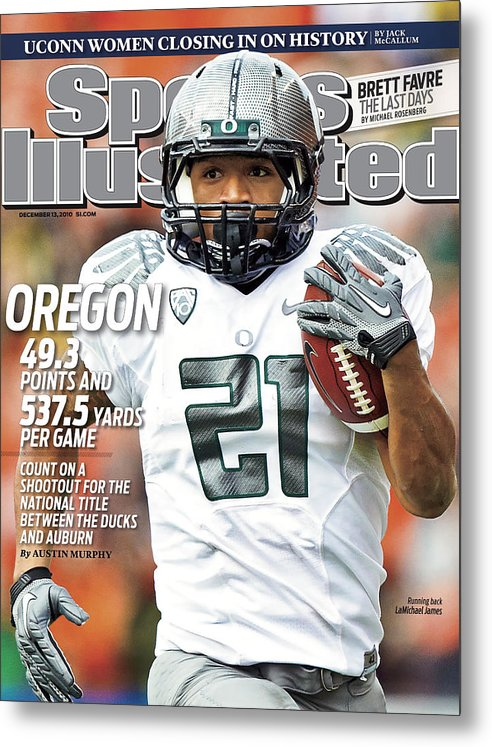 Magazine Cover Metal Print featuring the photograph Oregon State University Vs University Of Oregon Sports Illustrated Cover by Sports Illustrated