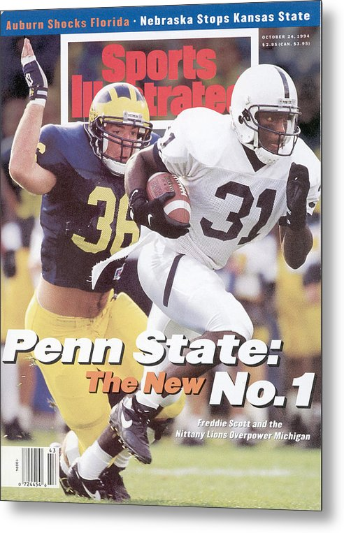 Michigan Metal Print featuring the photograph Penn State University Freddie Scott Sports Illustrated Cover by Sports Illustrated
