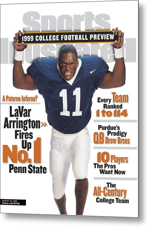 Season Metal Print featuring the photograph Penn State University Lavar Arrington, 1999 College Sports Illustrated Cover by Sports Illustrated