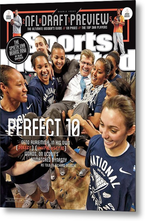 Magazine Cover Metal Print featuring the photograph Perfect 10 Geno Auriemma, In His Own Direct Unapologetic Sports Illustrated Cover by Sports Illustrated