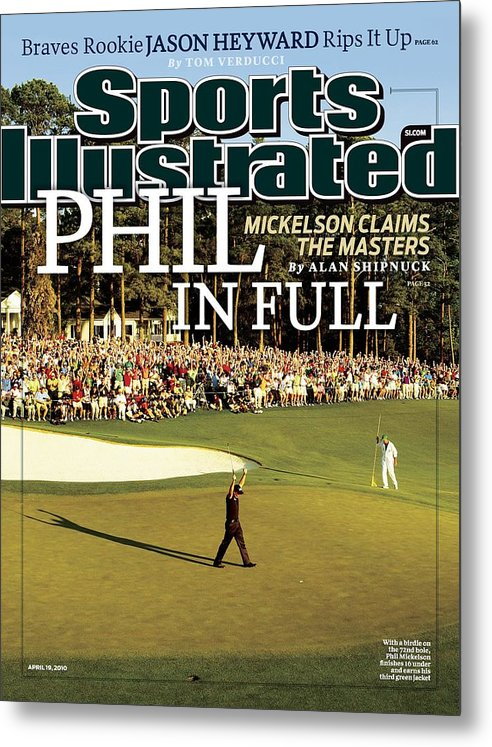 Magazine Cover Metal Print featuring the photograph Phil Mickelson, 2010 Masters - Final Round Sports Illustrated Cover by Sports Illustrated