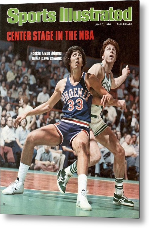 Magazine Cover Metal Print featuring the photograph Phoenix Suns Alvan Adams, 1976 Nba Finals Sports Illustrated Cover by Sports Illustrated