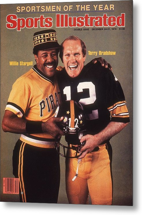 Professional Sport Metal Print featuring the photograph Pittsburgh Pirates Willie Stargell And Pittsburgh Steelers Sports Illustrated Cover by Sports Illustrated