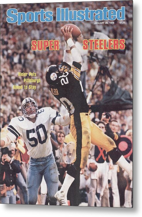 Super Bowl Xiii Metal Print featuring the photograph Pittsburgh Steelers Rocky Bleier, Super Bowl Xiii Sports Illustrated Cover by Sports Illustrated